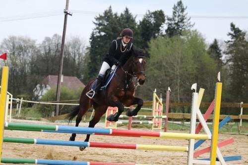 Radka Bubová na koni Kerland v parkuru ZM (90 cm) - 0 tr.b.+ 0 tr.b - 2. místo