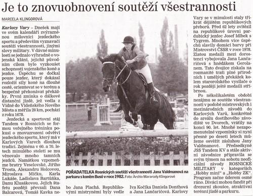 Karlovarský deník, 27.8.2011