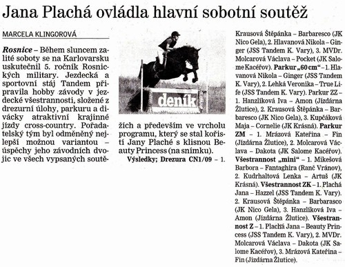Karlovarský deník, 27.8.2013
