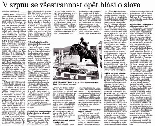 Karlovarský deník, 31.7.2012